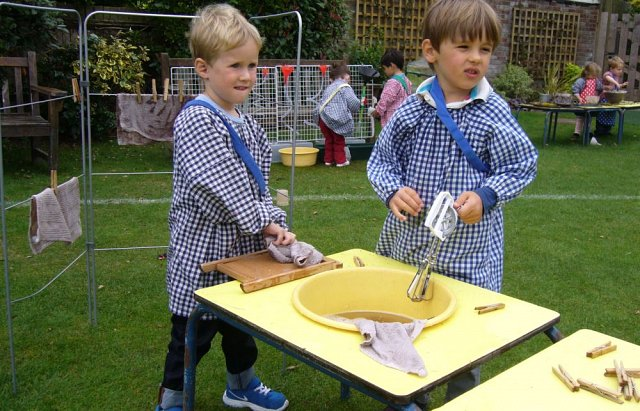 Montessori children outdoor learning